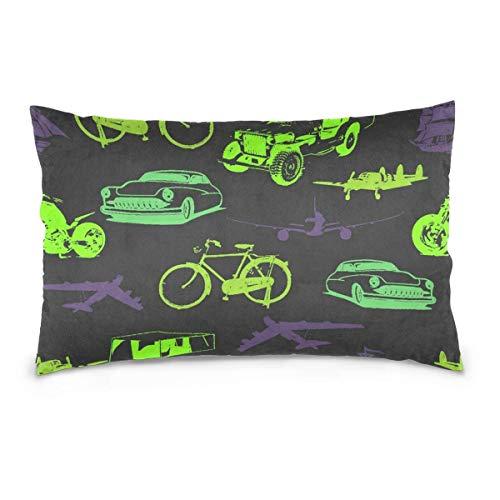 Sweet grape Fundas de almohadas Sostener tablas de surf Hippie Bus Motorcylces para todos los días 20x30 naranja fundas de almohada