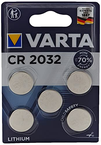 VARTA Batterien Electronics CR2032 Lithium Knopfzelle 3V Batterie 5er Pack Knopfzellen in Original 5er Blisterverpackung