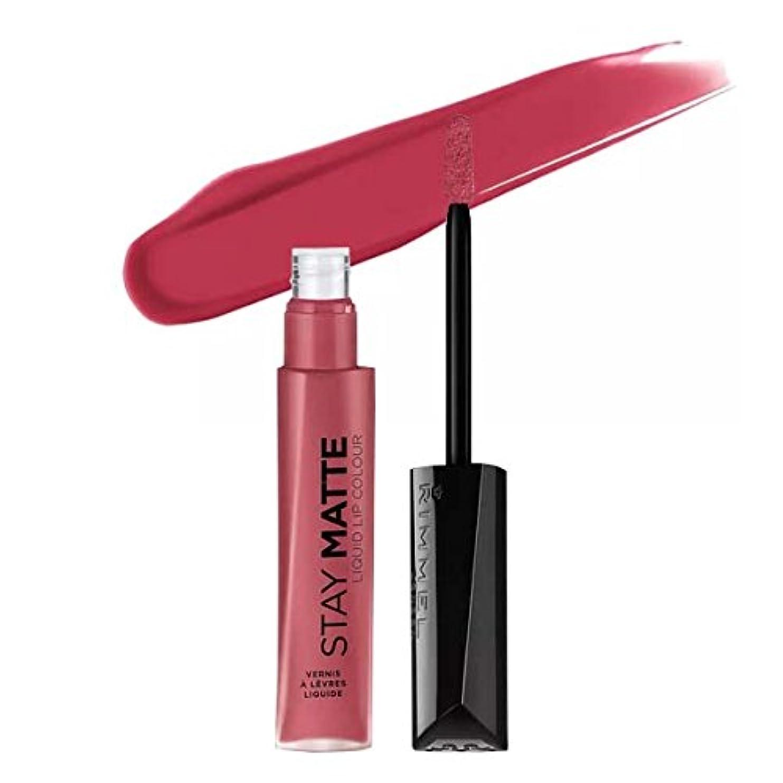 咽頭辞書破滅的な(6 Pack) RIMMEL LONDON Stay Matte Liquid Lip Color - Pink Blink (並行輸入品)