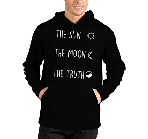 bubbleshirt Felpa con Cappuccio The Sun The Moon The Truth Teen Wolf - Serie TV - Teen Wolf - - in Cotone