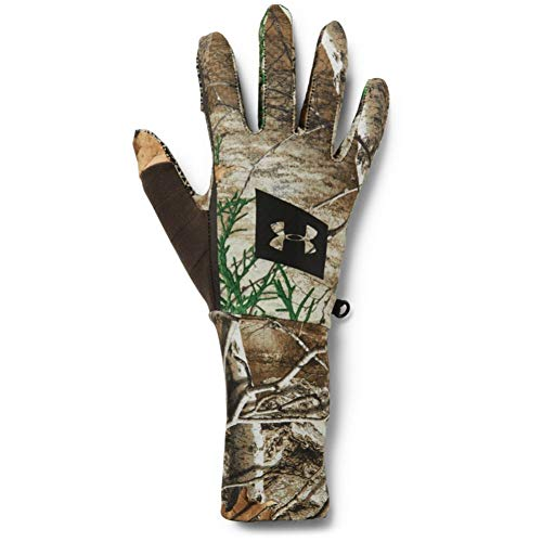 Under Armour Men's Hunt Liner Gloves , Real Tree Edge (991)/Black, X-Large