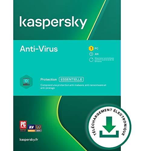 Kaspersky Anti-Virus 2021 | 1 Appareil | 1 An | PC | Code d'activation – envoi par email
