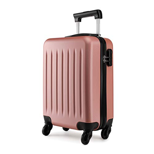 Kono 19 inch Carry On Luggage Lightweight Hard Shell ABS 4 Wheel Spinner Suitcase (Nude)