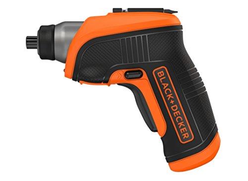 Black & Decker CS3652LC-GB CS3652LC 3.6V Lithium Screwdriver with Right Angle Attachment, 3.6 V, Black/Orange
