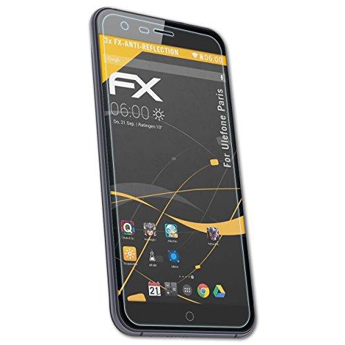 atFolix Panzerfolie kompatibel mit Ulefone Paris Schutzfolie, entspiegelnde & stoßdämpfende FX Folie (3X)