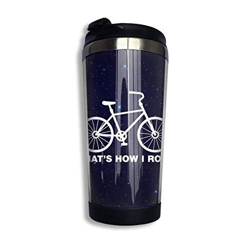 Así Es Como Ruedo Bicicleta Taza De Café Con Tapa Para Té Café Acero Inoxidable Portátil 400 Ml
