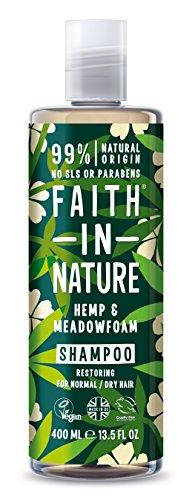 Faith in Nature – 100% natuurlijke shampoo met hennep en meadowfoam voor alle haartypes – voor veelvuldig wassen – vrij parabenen – veganistisch.