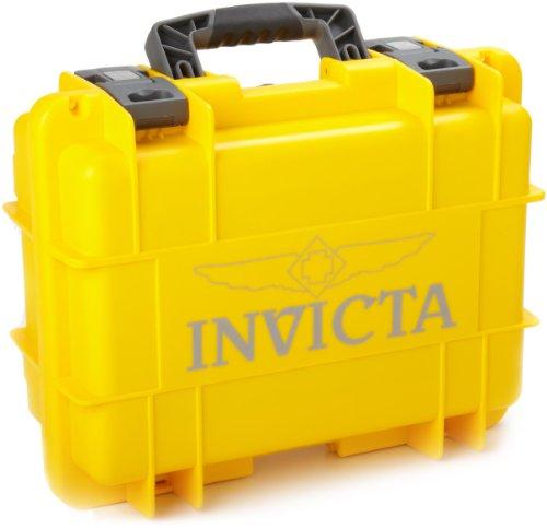 Invicta IG0098-RLC8S-Y 8 Slot Yellow Plastic Watch Box Case