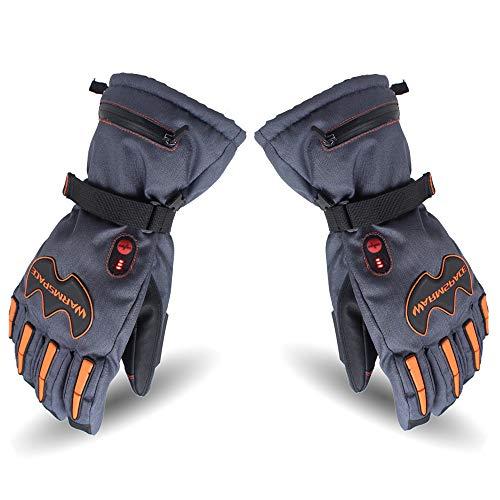 Gants Chauffants Électriques, Gants Imperméables Coupe Et Rechargeables Thermiques pour Le Vélo De Ski Extérieur d'hiver,Blue-XL