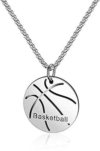 LKLFC Halskette Frauen Halskette Männer Halskette personalisiertes Sportgeschenk für Jungen Sportkette schwimmende Basketballkette aus Edelstahl Teamgeschenk Mädchen Jungen Halskette