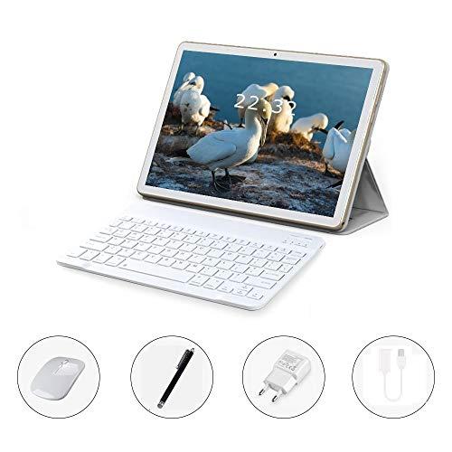 TEENO 10 Pulgadas WIFI/4G Tablet con Ranuras para Tarjetas SIM estándar, Procesador de Cuatro Núcleos, 3G + 32GB, Doble Cámara, WiFi, Bluetooth, GPS