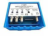 Vsnetwork Amplificatore Antenna TV da Palo con Filtro Lte/4G, Guadagno Massimo 40Db Regolabile, Amplificatore Antenna TV 2 Ingressi Uhf +1 Vhf, Bande separate