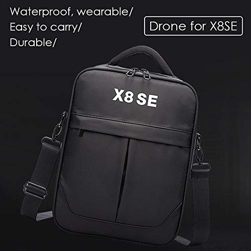 voloki Estuche de Transporte para Xiaomi FIMI X8 SE Drone Bag, Bolsa de Almacenamiento portátil a Prueba de Golpes a Prueba de Golpes, Negro Adorable