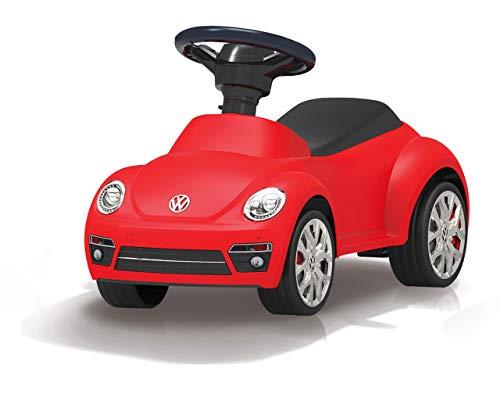 Jamara 460407 Rutscher VW Beetle - Kippschutz, Hupe am Lenkrad, originalgetreue Optik, rot