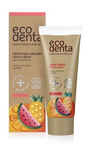Ecodenta Kinder Zahnpasta Ohne Fluorid Saftige Frucht 75ml Toothpaste Zertifizierte Organische Mit Aloe Vera Saft Xylitol