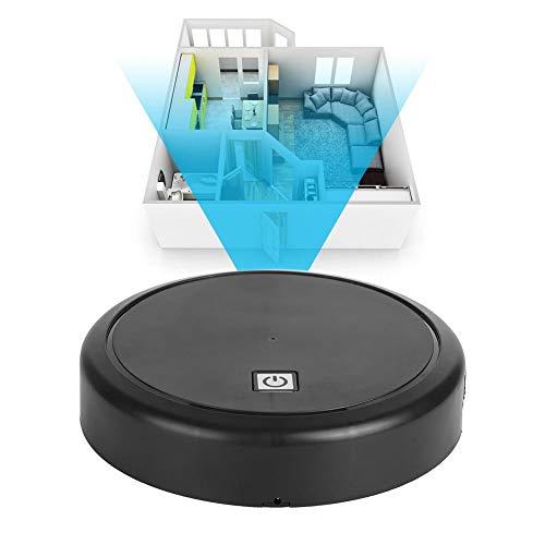 Qinlorgo Robot de Barrido Inteligente, Robot de Barrido automático Inteligente USB Cargador de Piso Limpiador de electrodomésticos para el hogar(Black)