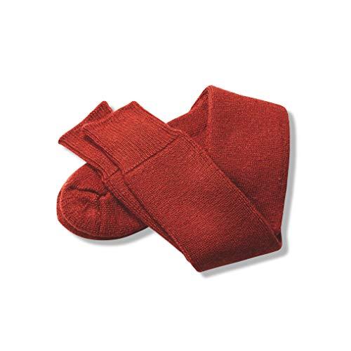 The Cambridge Sock Company 70 prozent Mohair Socken für Herren & Damen, luxuriös, bequem, warm, Frottee-Schlaufen, zum Wandern, Spazierengehen, Skifahren, Gummistiefel Gr. M, terracotta