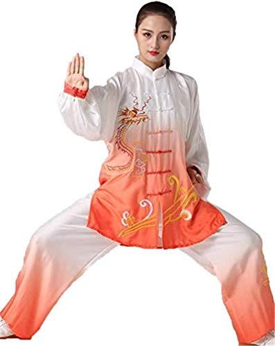 FJJLOVE Tai Chi Ropa Uniforme, Cómodo Artes Marciales Wing Chun Kung Fu Formación Paños Ropa Ropa para La Tercera Edad Principiantes Mujeres Artritis,XL