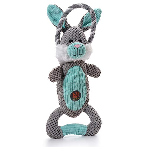 Charming Pet Scrunch Bunch Plush Dog Toy - Interactive Soft Cuddly Animal - Tough and Durable Squeaky Tug Toy, Bunny
