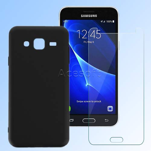 Premium Real Anti-Strike Shatterproof Tempered Glass Screen Protector Natural Tactility Portable Dustproof Back Bumper Protective Silicone Soft TPU Case for Samsung Galaxy Sky S320VL