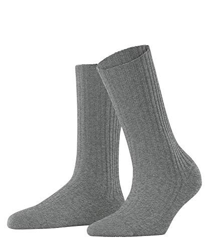 FALKE Damen Cosy Wool Boot W SO Socken, Grau (Grey Mix 3399), 39-42 (UK 5.5-8 Ι US 8-10.5)