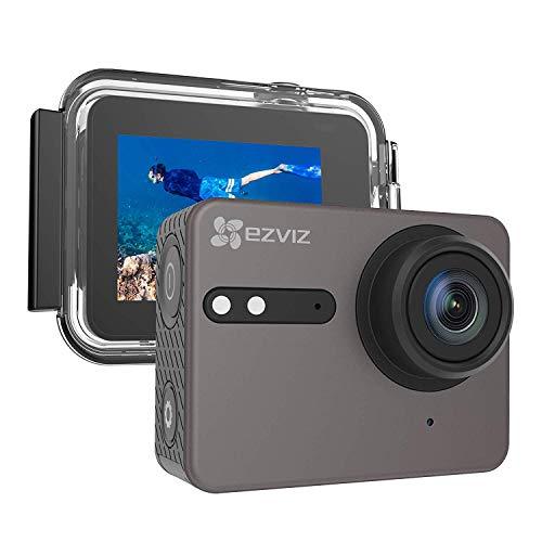 EZVIZ S6 Action Kamera Action Cam 4K Wasserdicht mit Sprachsteuerung und Wi-Fi Bluetooth HD IPS Touchscreen 2 Zoll Blickwinkel mit 150° Fernsteuerung App Modell S6