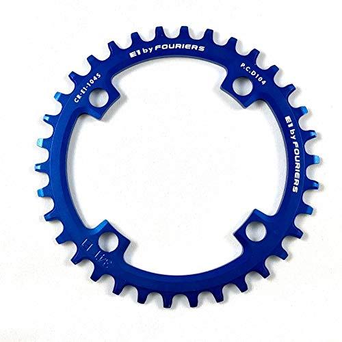 Fouriers FOU-CR-E1-104S-306 monoplato 104 bcd 30 Dientes, Azul