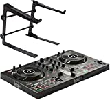 Hercules DJControl Inpulse 300 - Mesa de mezclas para DJ (2 bandejas, incluye soporte para portátil...