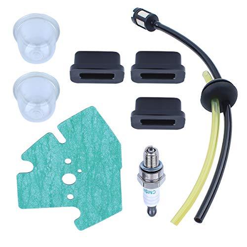 Adefol Rasenmäher Motor Treibstofftank Montage Gummitüllen Kit für Honda GX25 GX25T Ersatzteile mit Vergaserdichtung Zündkerze für 16221-Z0H-V00, 17533-Z0H-000, 17504-ZM3-003