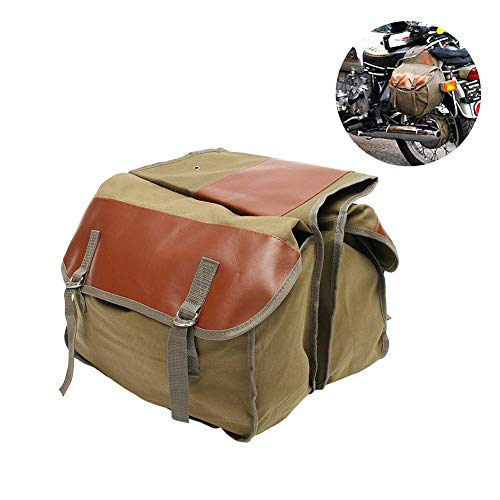 Folconauto Motorcycle Saddle Bag,Large Capacity Heavy Duty Bike Bicycle Motorcycle Panniers Ideal for Travel 13' x 1'x 17' -Khaki