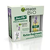 Garnier BIO Pack Antiedad Crema Antiedad con Aceite Esencial de Lavanda y Vitamina E + Aceite de Rostro Reafirmante con Lavanda, Suaviza, Reafirma y Regenera la Piel, 50 ml + 30 ml