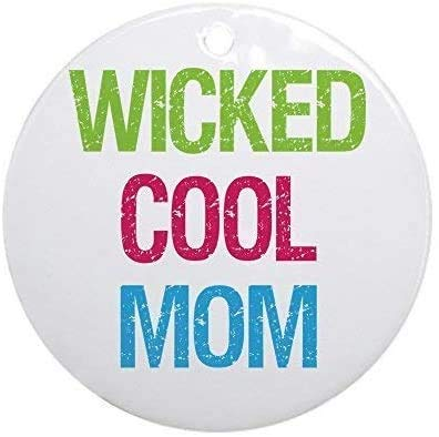 happygoluck1y Wicked Cool Mom! Christmas Ornaments Personalized,Keepsake Ornaments for Christmas Tree,2020 Christmas Memorial Ornament,for New Home,Kids,Friends