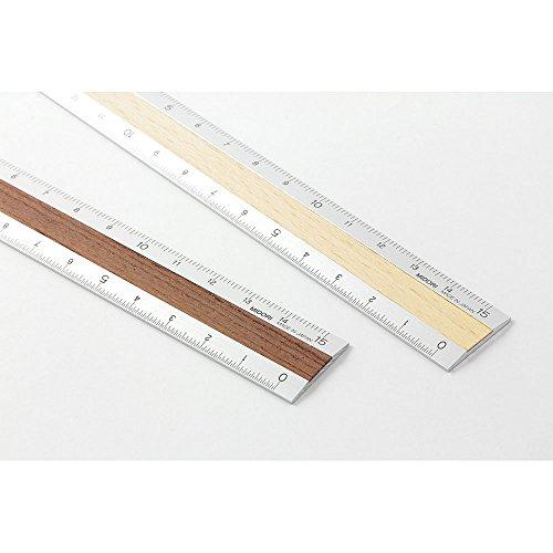 ミドリ『アルミ&ウッド定規15cm』