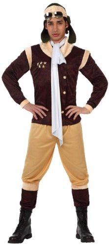 Atosa - Disfraz de aviador para hombre, talla L (50-52) (120