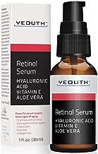 Retinol Serum 2.5% with Hyaluronic Acid, Aloe Vera, Vitamin E - Boost Collagen Production, Reduce Wrinkles, Fine Lines, Even Skin Tone, Age Spots, Sun Spots - 1 fl oz - Yeouth … (1oz)