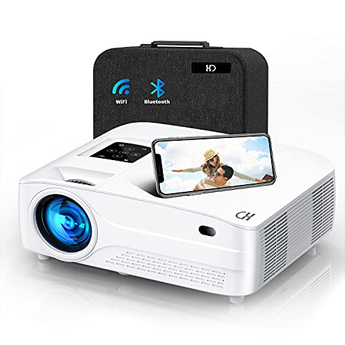 apple android projectors Native 1080P WiFi Bluetooth Projector 4k,XINDA 9800 lum Mini Projector with 450