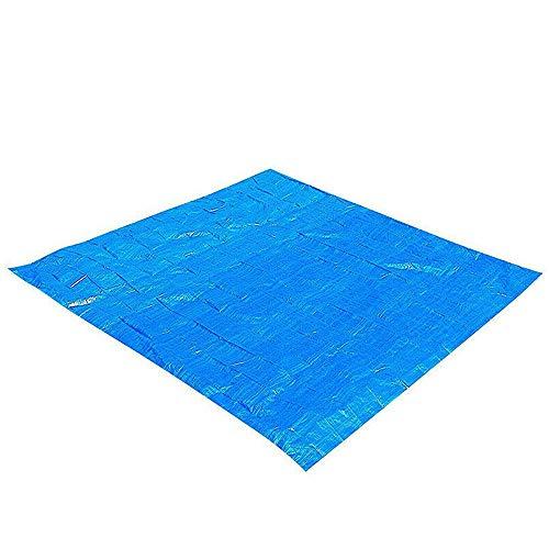 BESTINE Mantel rectangular para piscina, color azul, plegable, impermeable, protector de piso, fácil de limpiar, para piscinas