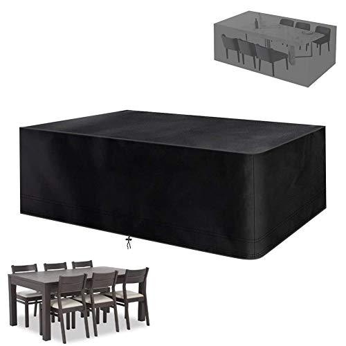 XGG Fundas para Muebles de Jardin Funda Protectora para Muebles Impermeable 210D Oxford Resistente al Polvo Anti-UV, para Sofa de Jardin, al Aire Libre, Mesa y Sillas 53.15 * 53.15 * 29.53in