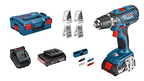 Bosch Professional Akkuschrauber GSR 18-2-LI Plus (2x 2,0 Ah Akku, 18 Volt, Schrauben-Ø max: 8 mm, in L-BOXX)