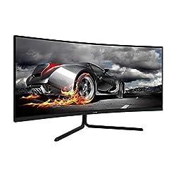 professional VIOTEK GNV34CB 34 inch ultra wide angle gaming monitor   1080P 100Hz 21: 9   Ultra bright VA panel…