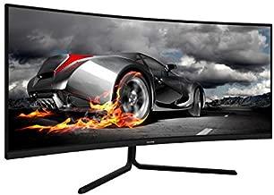 VIOTEK GNV34CB 34-Inch Ultrawide Curved Gaming Monitor | 1080P 100Hz 21:9 | Ultra-Bright VA Panel w/Dynamic Color + FreeSync | HDMI DVI DP 3.5mm | Deep 1500R Curvature (VESA)