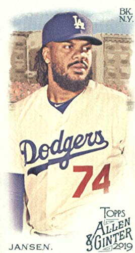 2019 Topps Allen and Ginter Base MINI #357 Kenley Jansen SP Los Angeles Dodgers Official MLB Baseball Trading Card (very small size)