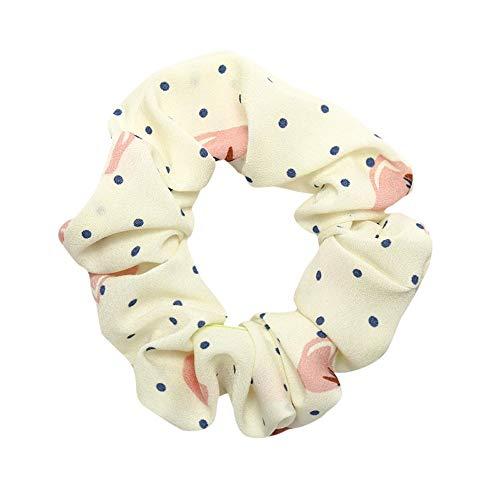 PinkLu Haarband Damen Elastischer Haarseilring Krawatte Elastisches Pferdeschwanz-Haarband Punktdruck Elegantes Temperament Mode Neuer HeißEr 4-Farbiges Haarband