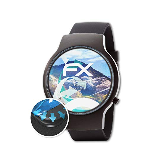 atFoliX Schutzfolie kompatibel mit Runtastic Moment Elite Folie, ultraklare & Flexible FX Bildschirmschutzfolie (3X)