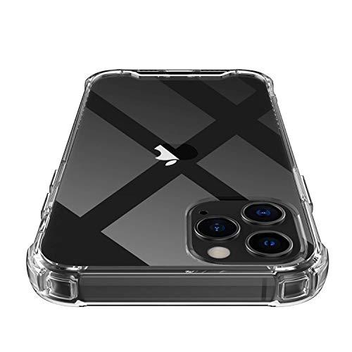 Shamo's kompatibel mit iPhone 12 Pro Max Hülle, Hochwertig Transparent Weiche Durchsichtig Dünn Handyhülle mit TPU Stoßfest Fallschutz Bumper Hülle Cover für Apple iPhone 12 Pro Max 6.7'' - Clear