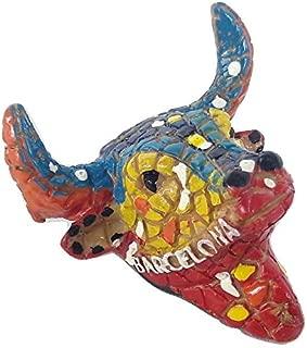 New souvenir Fridge Magnet Spain Barcelona colourful bull head mosaic Catalonia
