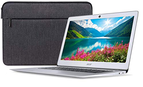 Acer Chromebook 14 CB3-431-12K1 14' Chromebook - 1366 x 768 - Atom x5 E8000-4 GB RAM - 32 GB Flash Memory - Sparkly Silver - Chrome OS - Intel HD Graphics - ComfyView - English (US) Keyboard -