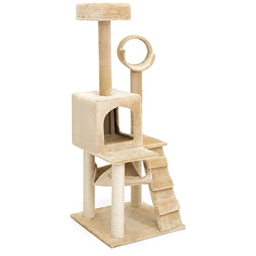 Best Choice Products 52in Deluxe Cat Tree Scratcher Furniture
