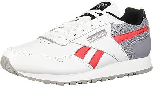 Reebok Women's Classic Harman Run Shoe, White/Shadow/Pink/Black, 5 M US