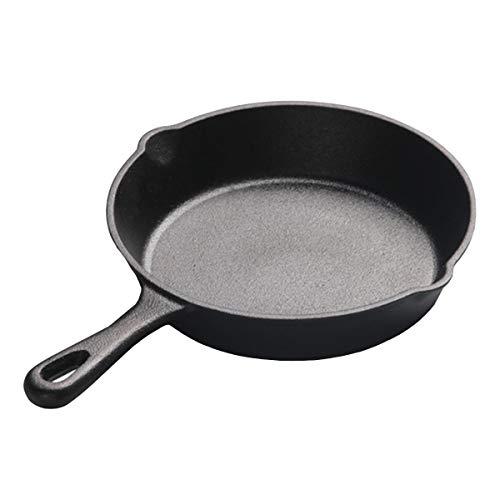ROSEBEAR Sartén de Hierro Fundido Pre-Sazonado Utensilios de Cocina para Uso en Interiores Y Exteriores - Parrilla Estufa